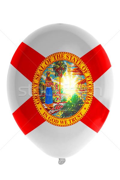 Léggömb színes zászló amerikai Florida boldog Stock fotó © vepar5