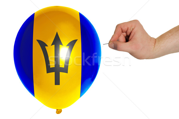 Bursting balloon colored in  national flag of barbados    Stock photo © vepar5