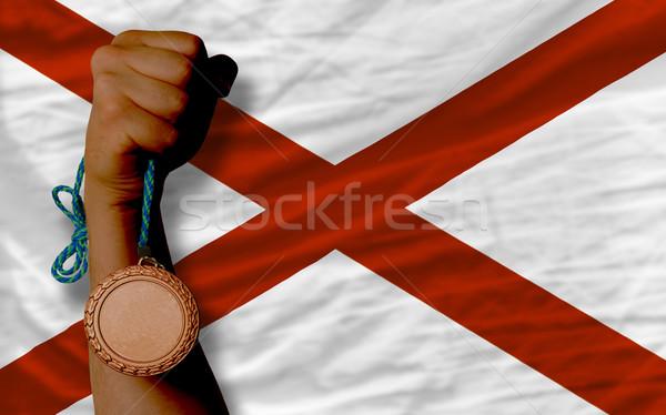 Bronz madalya spor bayrak amerikan Alabama Stok fotoğraf © vepar5