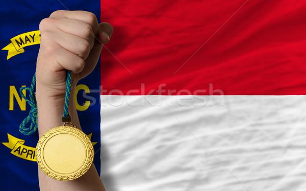 Aranyérem sport zászló amerikai észak nyertes Stock fotó © vepar5