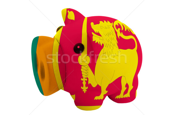 piggy rich bank in colors  national flag of srilanka    for savi Stock photo © vepar5