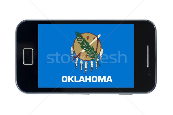 Smartphone vlag amerikaanse Oklahoma telefoon telefoon Stockfoto © vepar5