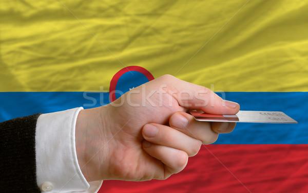 Compra cartão de crédito Colômbia homem fora Foto stock © vepar5