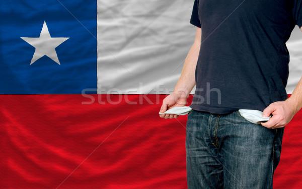 Recesszió fiatalember társadalom Chile szegény férfi Stock fotó © vepar5