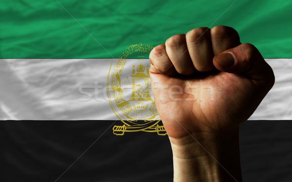 кулаком Афганистан флаг власти полный все Сток-фото © vepar5