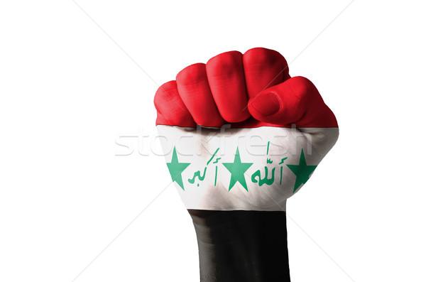Punho pintado cores Iraque bandeira baixo Foto stock © vepar5