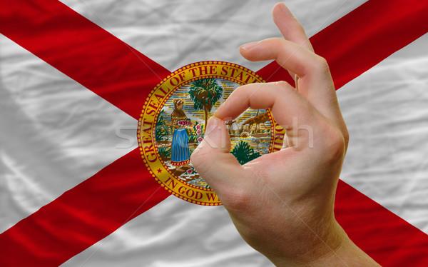 Gesto Flórida bandeira homem Foto stock © vepar5