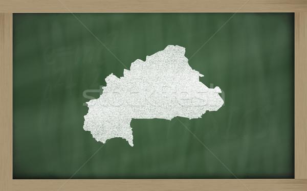 outline map of burkina faso on blackboard  Stock photo © vepar5