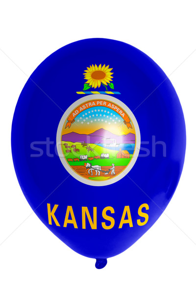 Balloon colored in  flag of american state of kansas    Stock photo © vepar5