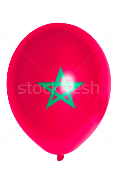 Balloon colored in  national flag of morocco    Stock photo © vepar5