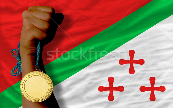 Gold medal for sport and  national flag of  of katanga    Stock photo © vepar5