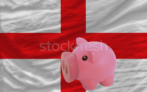 piggy rich bank and  national flag of england    Stock photo © vepar5