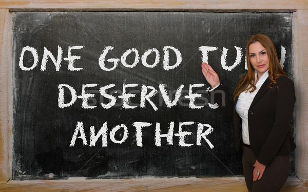 öğretmen bir iyi çevirmek Stok fotoğraf © vepar5