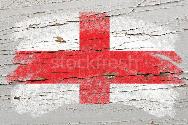 Zászló Anglia grunge fából készült textúra festett Stock fotó © vepar5