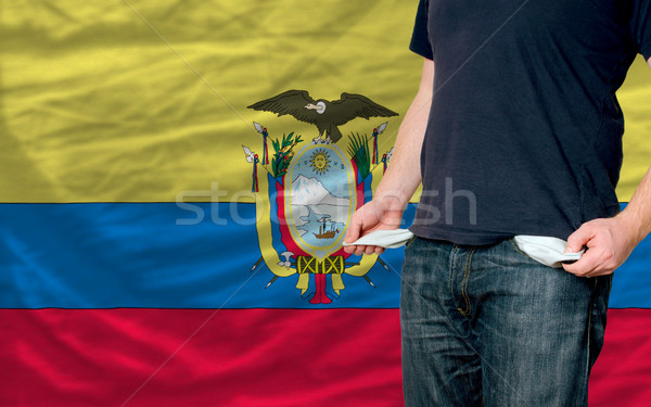 recession impact on young man and society in ecuador Stock photo © vepar5