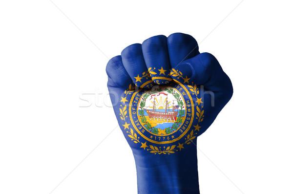 Yumruk boyalı renkler New Hampshire bayrak düşük Stok fotoğraf © vepar5