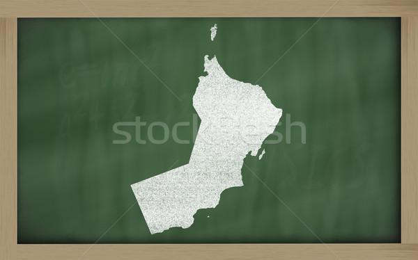 Skicc térkép Omán iskolatábla rajz rajzolt Stock fotó © vepar5
