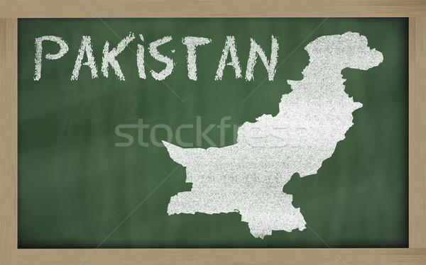 Harita Pakistan tahta çizim Stok fotoğraf © vepar5