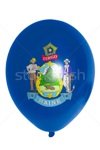 Balloon colored in  flag of american state of maine    Stock photo © vepar5