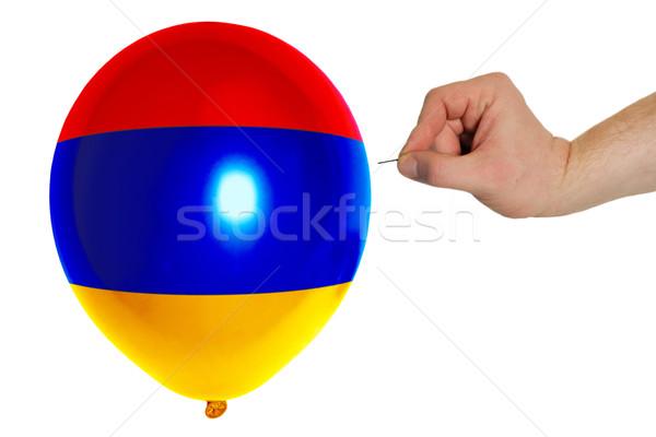 Balão bandeira Armênia agulha conceito Foto stock © vepar5