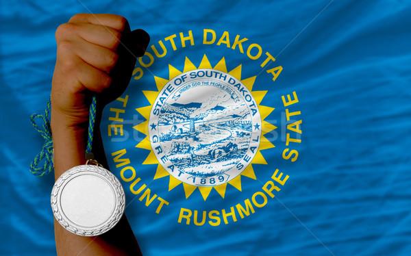 Zilver medaille sport vlag South Dakota Stockfoto © vepar5
