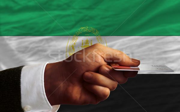 Satın alma kredi kartı Afganistan adam dışarı Stok fotoğraf © vepar5