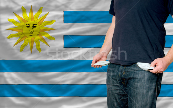 recession impact on young man and society in uruguay Stock photo © vepar5