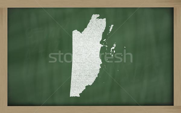 Skicc térkép Belize iskolatábla rajz rajzolt Stock fotó © vepar5