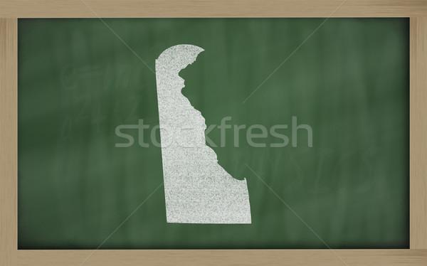 Harita Delaware tahta çizim kara tahta Stok fotoğraf © vepar5