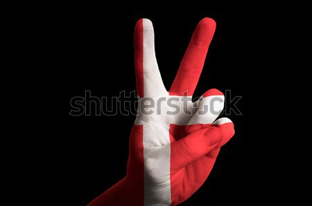 england national flag two finger up gesture for victory and winn Stock photo © vepar5