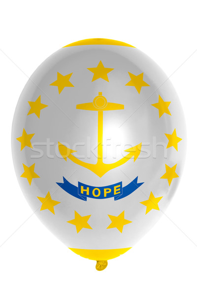 Balloon colored in  flag of american state of rhode island    Stock photo © vepar5