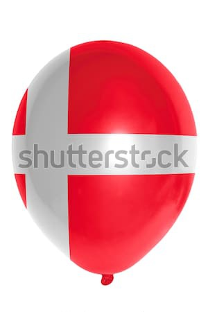 Léggömb színes zászló Dánia boldog utazás Stock fotó © vepar5