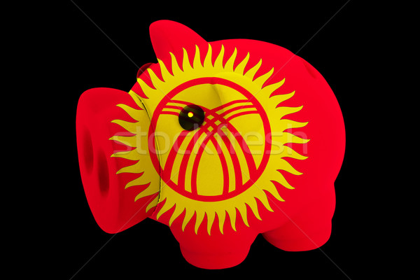 piggy rich bank in colors national flag of kirghizstan   for sav Stock photo © vepar5