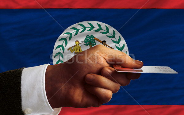 Vásárol hitelkártya Belize férfi nyújtás ki Stock fotó © vepar5
