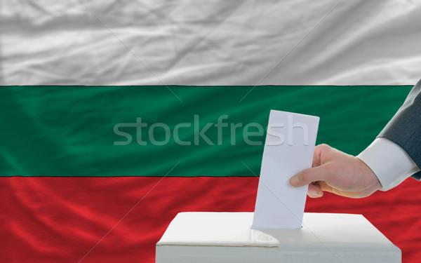 Adam seçimler Bulgaristan oylama kutu Stok fotoğraf © vepar5