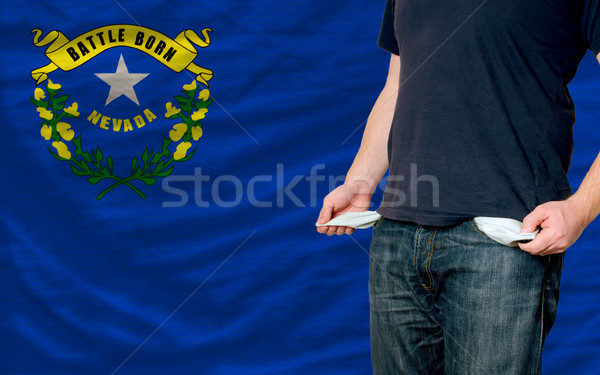 Stock fotó: Recesszió · fiatalember · társadalom · amerikai · szegény · férfi