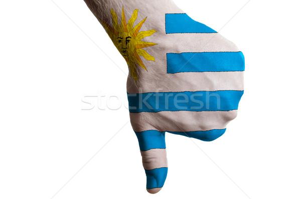 Уругвай флаг вниз жест провал Сток-фото © vepar5