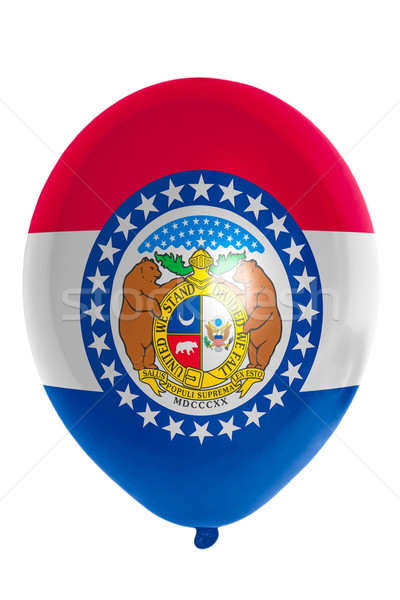Balloon colored in  flag of american state of missouri    Stock photo © vepar5