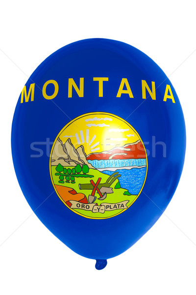 Balloon colored in  flag of american state of montana    Stock photo © vepar5