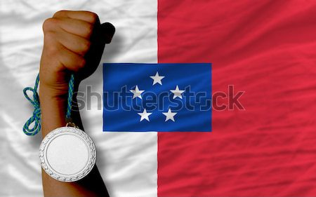 Bronze medal for sport and  national flag of panama    Stock photo © vepar5