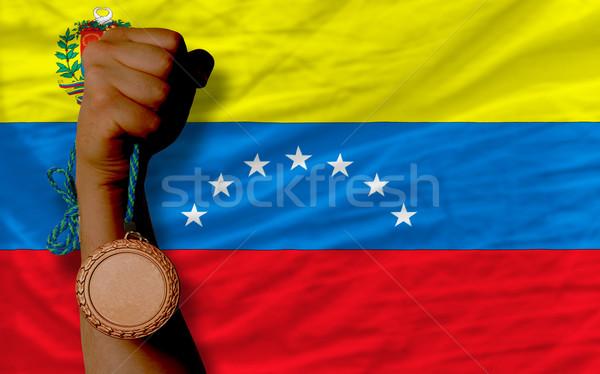 Bronze medalha esportes bandeira Venezuela Foto stock © vepar5