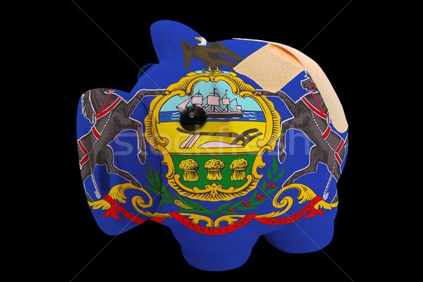 Rijke bank kleuren vlag Stockfoto © vepar5