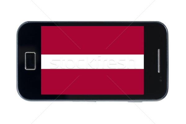 smartphone national flag of latvia    Stock photo © vepar5