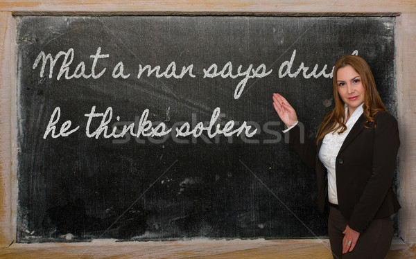 учитель что человека пьяный успешный Сток-фото © vepar5