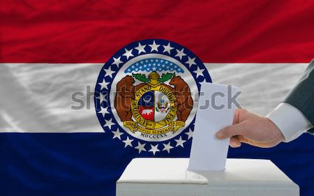 complete waved flag of american state of missouri for background Stock photo © vepar5