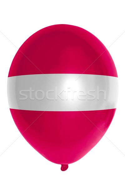 Ballon gekleurd vlag Letland gelukkig reizen Stockfoto © vepar5
