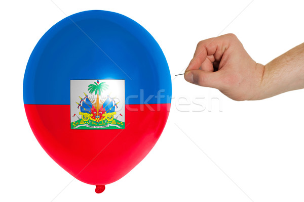 Balon renkli bayrak Haiti bayraklar siyaset Stok fotoğraf © vepar5