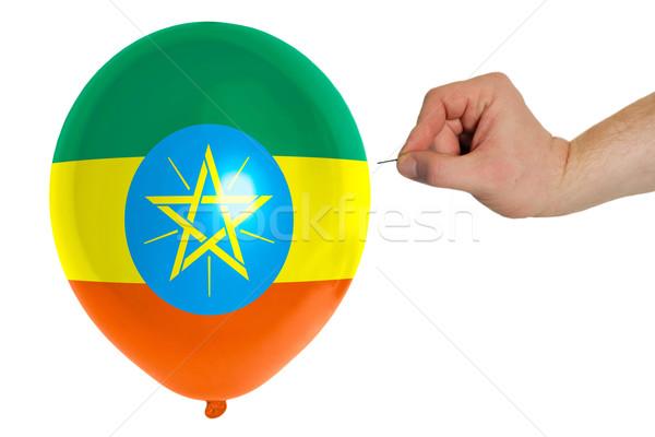 шаре флаг Эфиопия концепция политику Сток-фото © vepar5