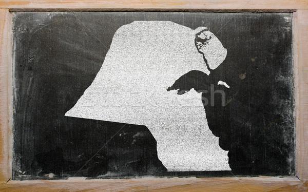Contorno mappa Kuwait lavagna disegno Foto d'archivio © vepar5
