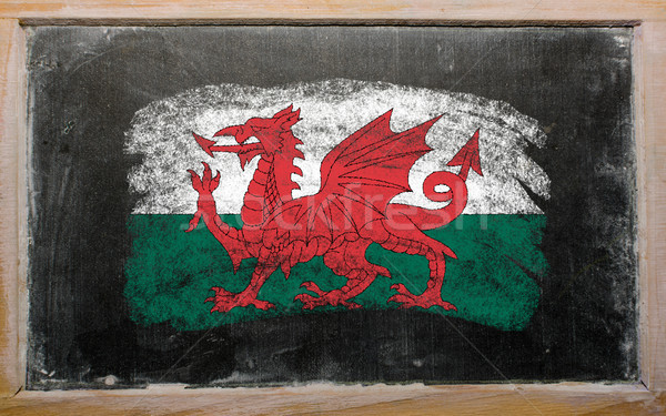 flag of wales on blackboard painted with chalk   Stock photo © vepar5